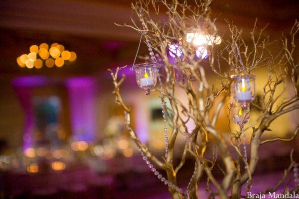 Newport Beach California Indian Wedding By Braja Mandala: Indian-wedding-reception-branches-crystal