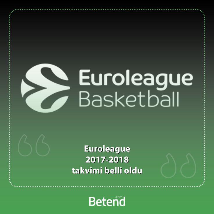 Euroleague Basketball 2017 – 2018 takvimi belli oldu. Sezonun 12 Ekim'de başlayacağı organizasyona 16 takım katılacak. Ülkemizi Fenerbahçe Doğuş ve Anadolu Efes'in temsil edeceği müsabakalar 30 hafta sürecek. İlk 8 takımın yer alacağı Play-Off'lar 17 Nisan – 1 Mayıs arasında oynanırken, Dörtlü Final ise Sırbistan'ın başkenti Belgrad'da 18 – 20 Mayıs tarihleri arasında gerçekleşecek. http://betend1000.com
