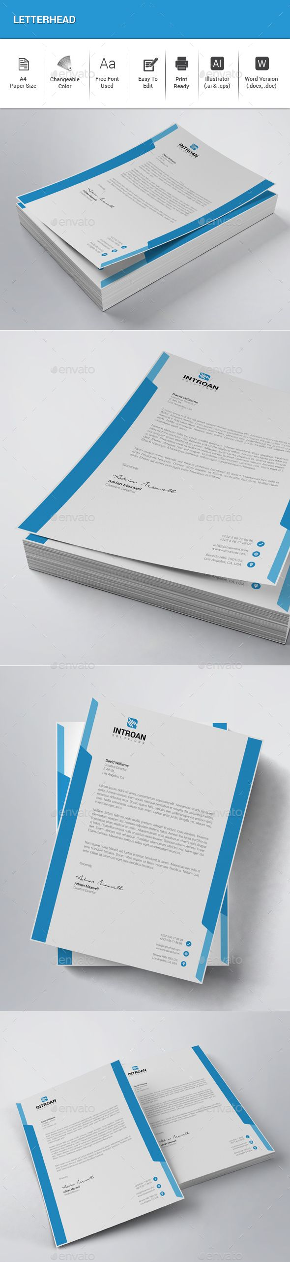 #Letterhead - Stationery Print Templates Download here: https://graphicriver.net/item/letterhead/20260959?ref=alena994