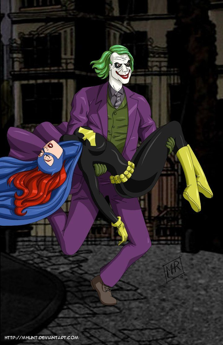 Joker escapes with Batgirl com by ~mhunt on deviantART