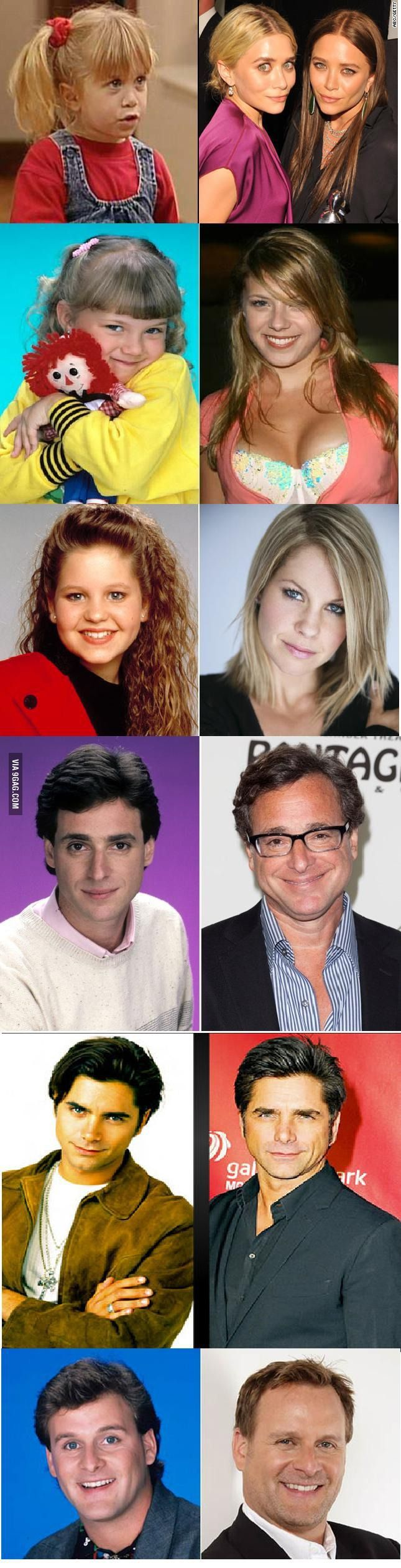 Full house - then and now | Then & Now | Pinterest