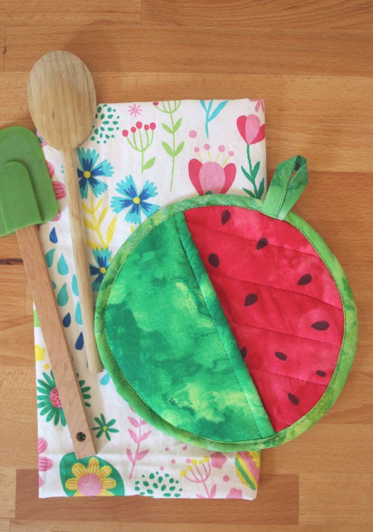 Watermelon Potholder DIY – A Beautiful Mess