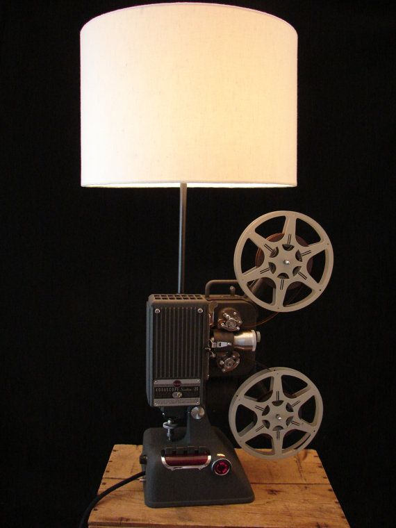 16mm Reel Movie Projectors: Upcycled Kodak 16mm Projector Lamp By BenclifDesigns On