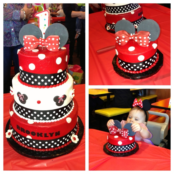 Brooklyn's 1st Birthday Cake. Mickey Mouse Themed Cake For The Adults & Kids To Eat As Well As A