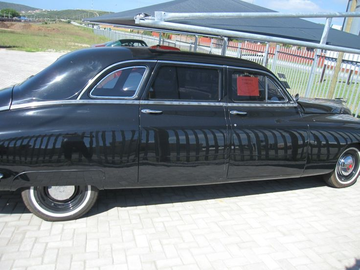 This 1948 Packard Limo was one of 100 manufactured and only two left in South Africa. Was used as a State vehicle for important Statesman.  Original straight 8 engine and gearbox 3 speed manual. Contact us for more info: 044 697 7583 #Packard #custom #cars