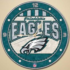 "Philadelphia Eagles 12"" Art-Glass Wall Clock"