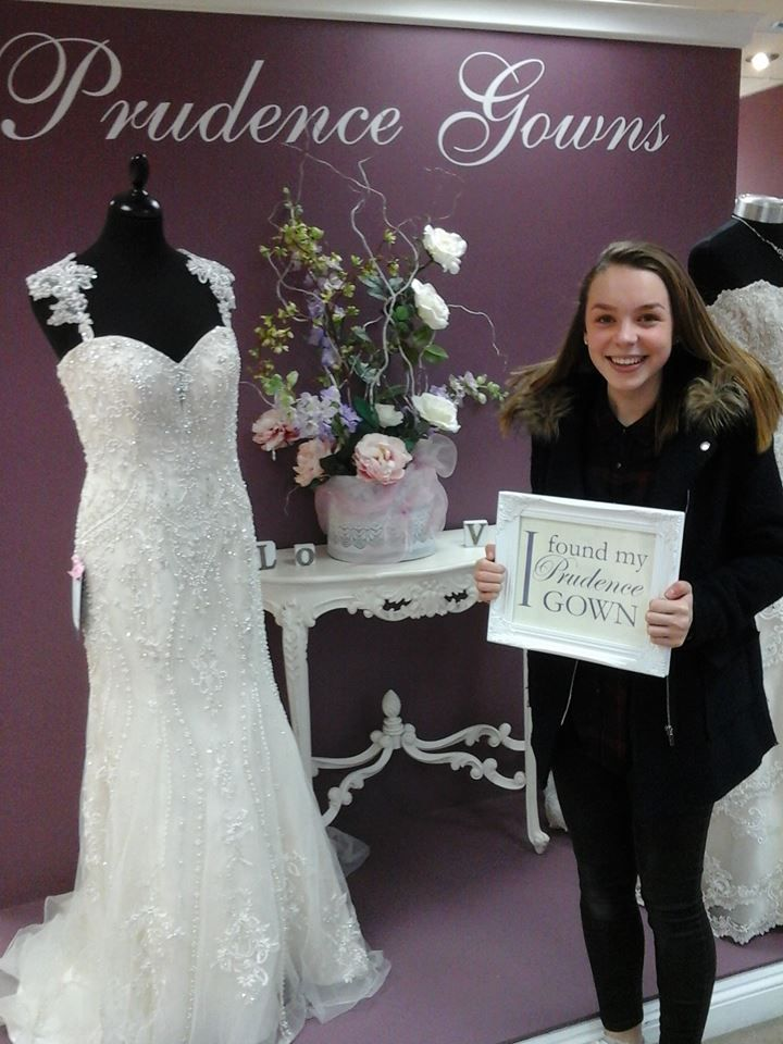 Summer found her #promdress for her #prom in our #Plymouth store today. YAY! #DressingYourDreams #PrudenceGowns