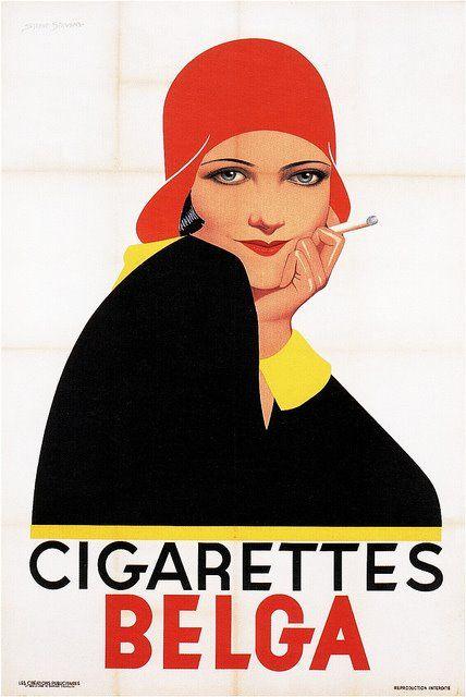 Cigarette advertisement by Sterne Stevens 1930