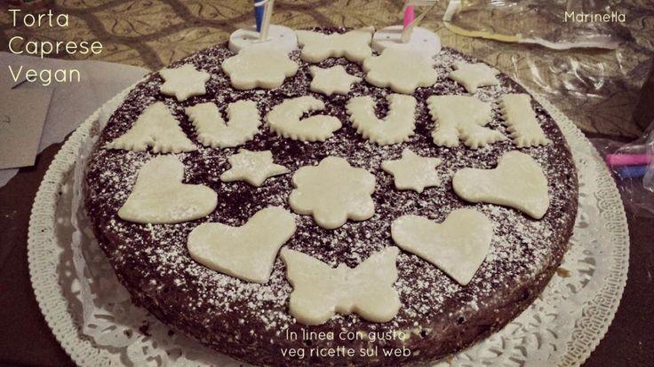 torta caprese vegan