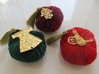 Kına Hediyesi, Altın Kaplama Figürlerle Süslü Püsküllü Kadife Lavanta Bohçası / hediye - sevgiliye hediye - kişiye özel hediye - bebek hediye - hediye sepeti
