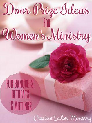 Doorprize Ideas for Women's Ministry
