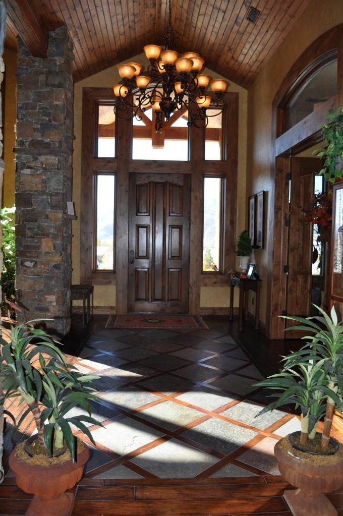 98 best images about foyer ideas on pinterest slate for Foyer wood floor designs