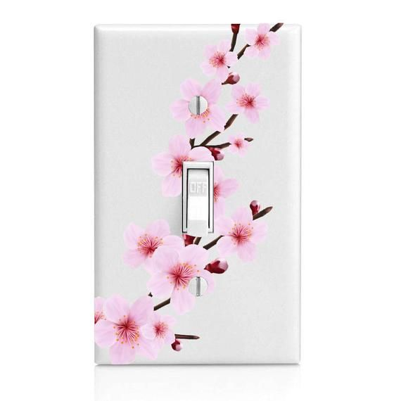 Hey I Found This Really Awesome Etsy Listing At Https Www Etsy Com Listing 548133778 Japanese Cherry B Light Switch Covers Diy Light Switch Art Light Switch
