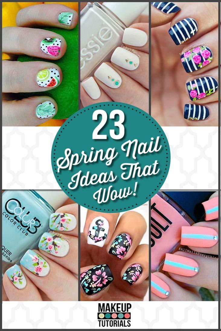 Spring Nail Art Ideas | Fun and Cute Nail Tutorials by Makeup Tutorials a http://www.makeuptutorials.com