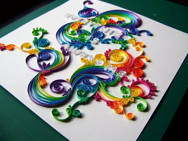 i want to learn how to do this.: Bright Colour, Rainbows Colors, Paper Art, Colors Design, Quilling Art, Paper Quilling, Paper Crafts, Art Projects, Teen Crafts