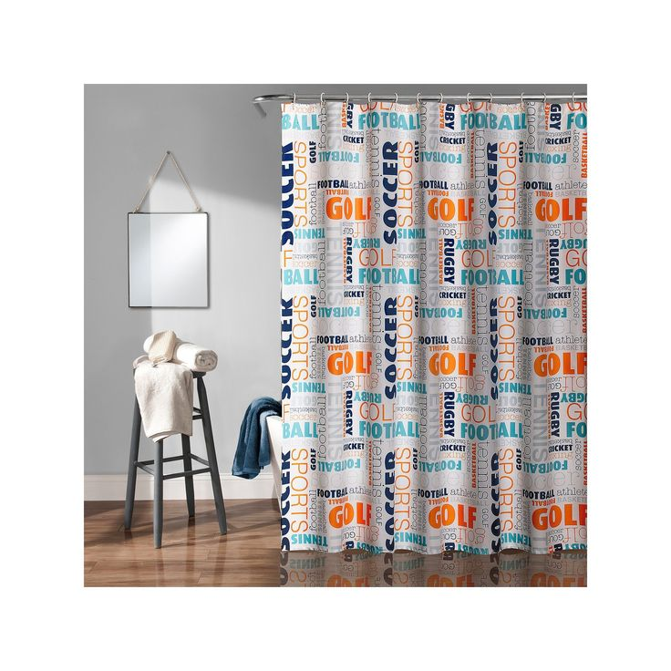 Lush Decor Sports Kid's Shower Curtain, Multicolor