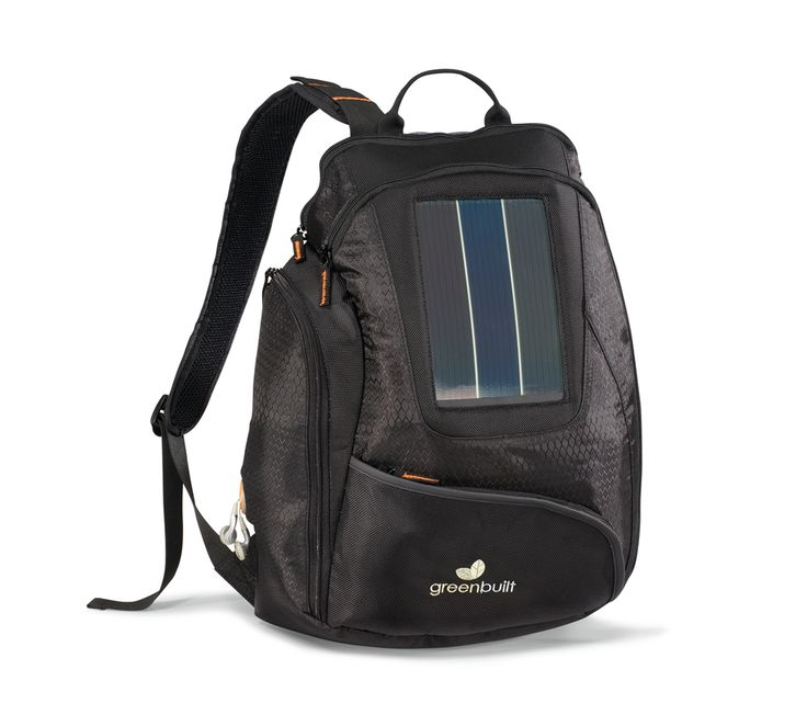 "Deluxe Catalyst Solar Computer Backpack Deluxe backpack features a high output solar panel for charging technology on the go Kit includes: USB adapter, USB charger, AC adapter, 3600 MAH battery and multiple adapters for charging most smartphones Front zippered pocket with multi-function organizer Side pocket for easy access to charging components and MP3 earphone outlet Viewpoint System computer sleeve (fits up to 14"" laptop) with detachment buckle and clear window for easy scanning"
