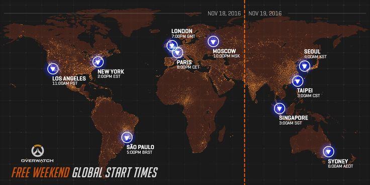 Mainkan Overwatch GRATIS dari Tanggal 18-21 November di PC PS4 dan XBOX One