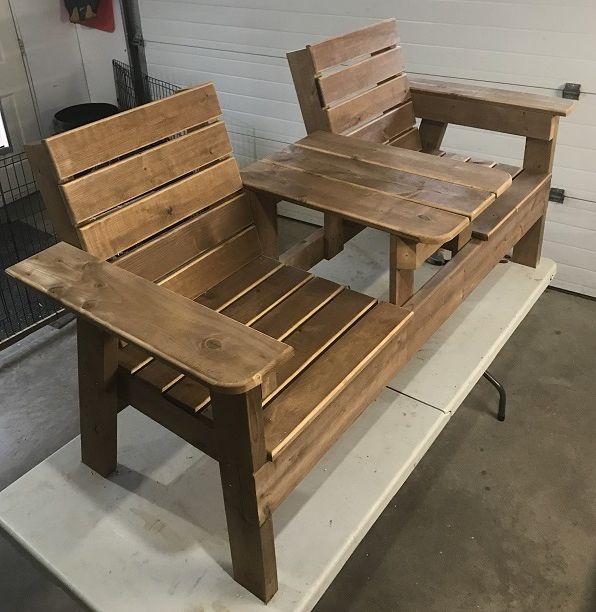 Double Chair Bench Plans Step By Step Plans In 2020 Wooden Outdoor Furniture Plans Outdoor Furniture Plans Wood Bench Plans