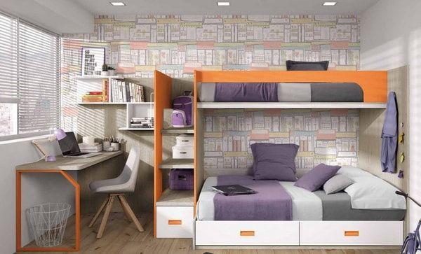 Dormitorios juveniles modernos. Ideas para decorar dormitorios juveniles. #dormitoriosjuveniles #decoracioninfantil