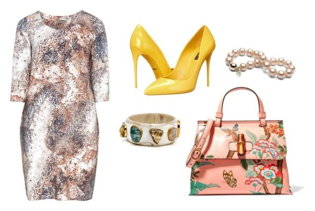 """Sin título #9"" by estebban-aguila on Polyvore featuring moda, Dolce&Gabbana, Gucci y Open End"