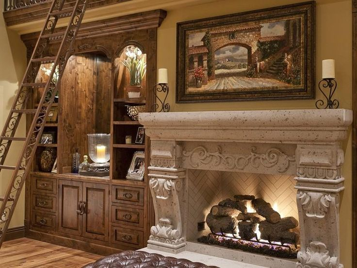 Victorian Gothic interior style: Victorian Gothic style mansion interior... lovin' that fireplace.
