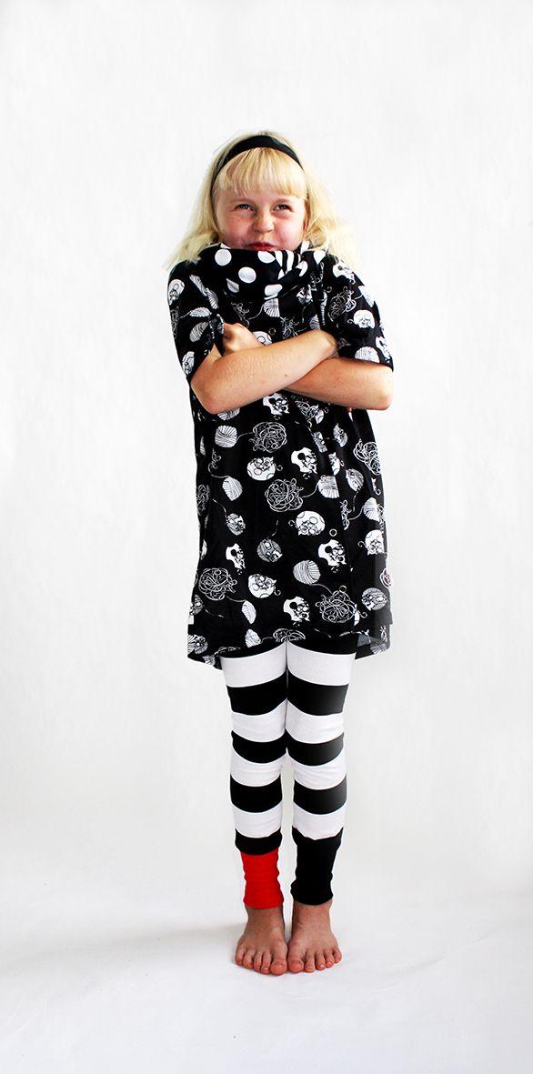 Höö aw2014 Kissa the Kitta Cat Matilda -dress & Oiva-Olivia -leggings