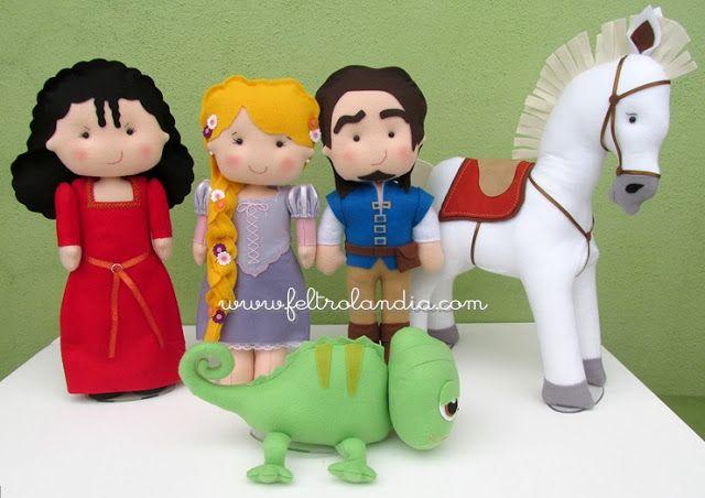 Personagens do filme Enrolados da Disney que foram encomendados pela Tatiana que é decoradora na empresa LT Ateliê e Eventos . Got...
