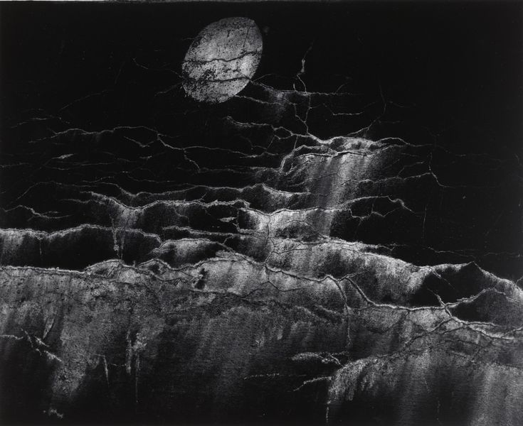 Minor White. Moon and Wall Encrustations, Pultneyville, New York. 1964