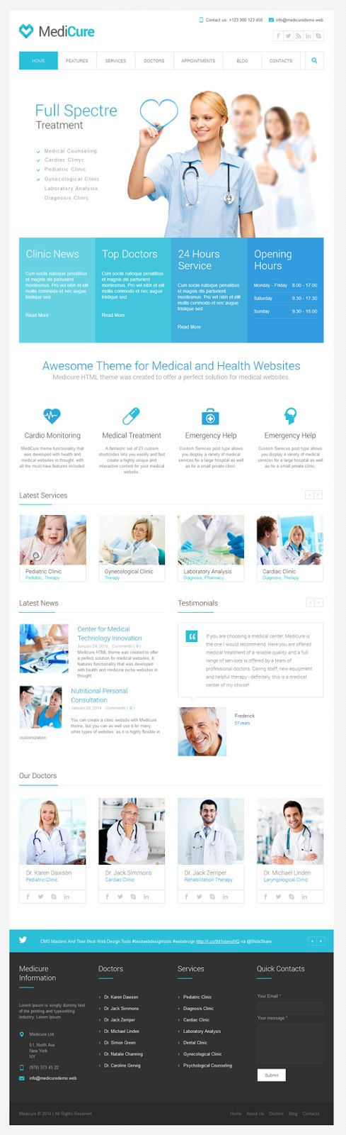 Medicure #template was created to offer a perfect solution for #medical #websites. It features functionality that was developed with health and...