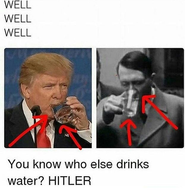 And do you know who else had a combover trump? Yep, thats right, hitler did!