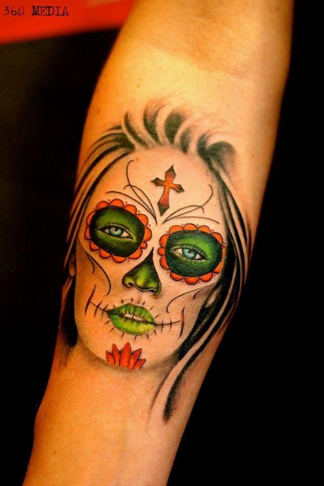 #tattoo #eastsidetattoonl #sugargirltattoo #sugarskulltattoo #diadelosmuertostattoo #diadelosmuertos