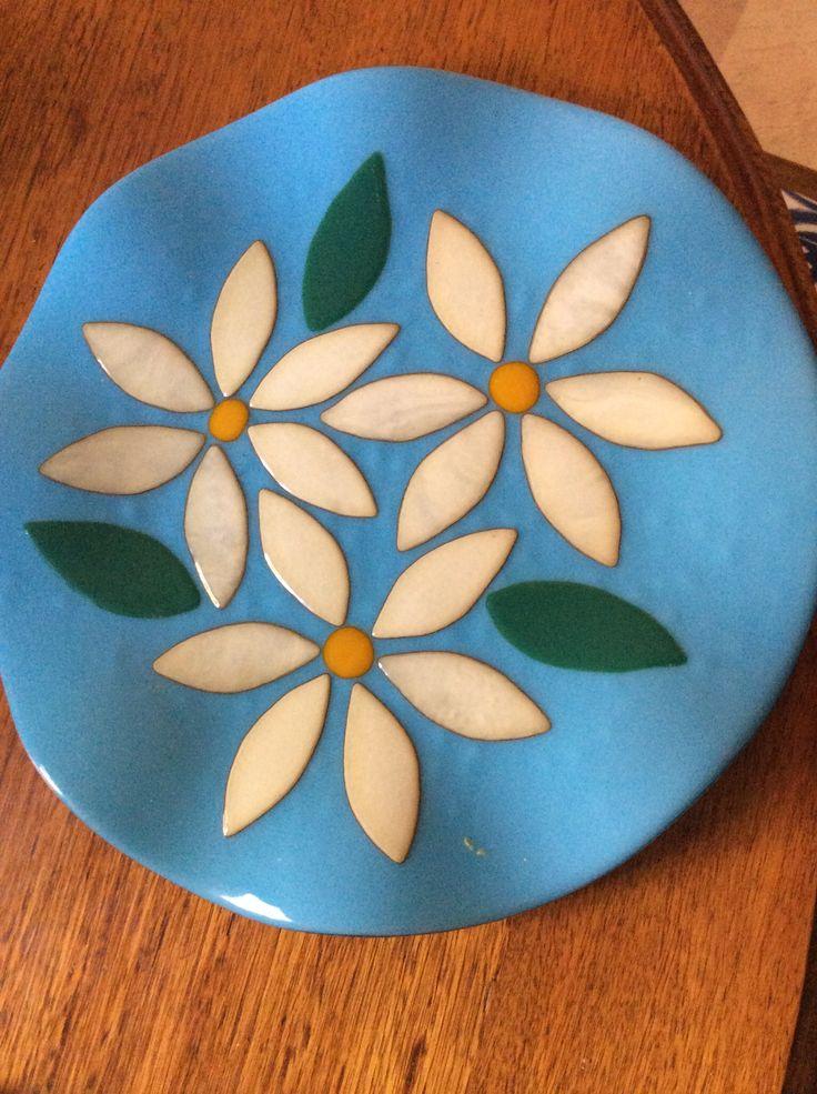Fused glass plate. Gai Strakosch design