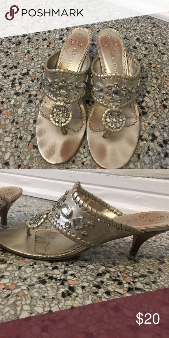 Jack Rogers Sandals Adorable bejeweled gold Jack Rogers sandals. Perfect to dress up any outfit! Jack Rogers Shoes Sandals