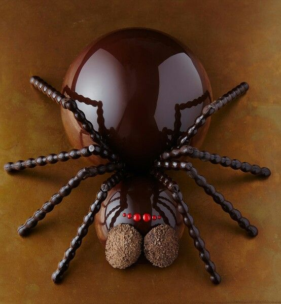 Chocolate spider by Gü head chef Fred Ponnavoy