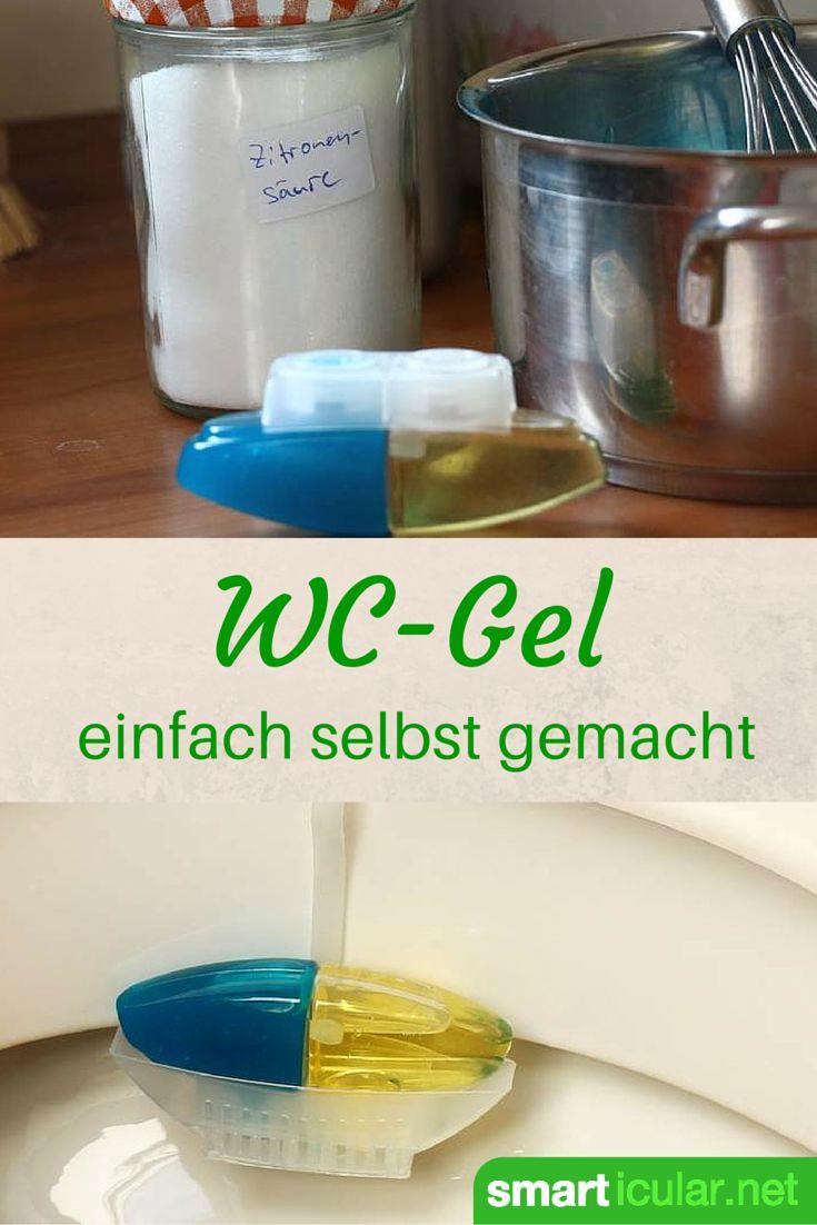 WC-Steine und Gels mindern unangenehme Gerüche und verlängern Reinigungsintervalle. WC-Gel kann man auch einfach und preiswert selbst herstellen.