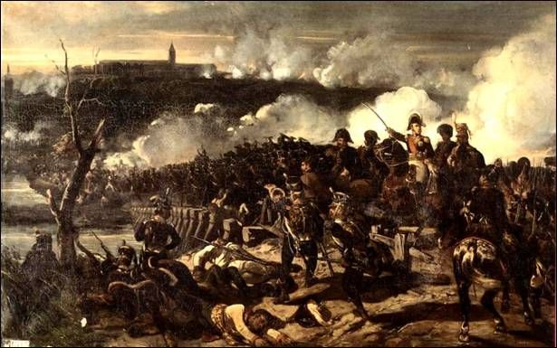 The Battle of Elchingen, Ney crossing the bridge at Elchingen on October 15 …