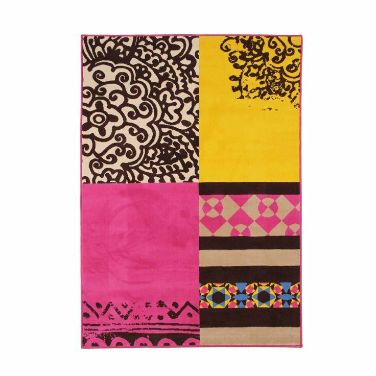 Tapis 120x170cm Multicolore - Delhi - Les tapis - Textiles et tapis - Salon et salle à manger - Décoration d'intérieur - Alinéa