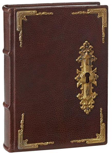 barnes and noble     antique door lock brown italian leather lined bound journal 6 u0026 39  u0026 39  x 8 5 u0026 39  u0026 39   39