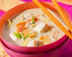 Thaise soep met kip en kokosmelk ( en uiteraard zonder maggi;-))