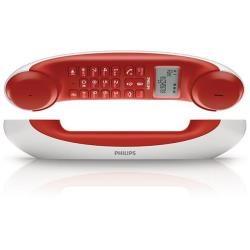 Philips teléfono cable diseño mira rojo PHT_M5501WR/23 Teléfonos PC Imagine #philips #telefono #phone