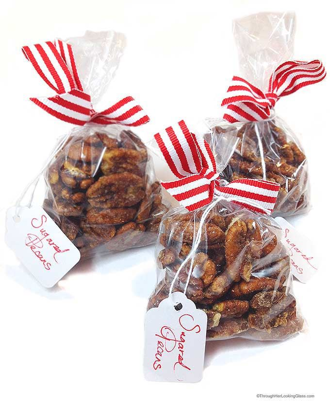 Sugared Pecans: a delicious, easy treat! Perfect stocking stuffer.