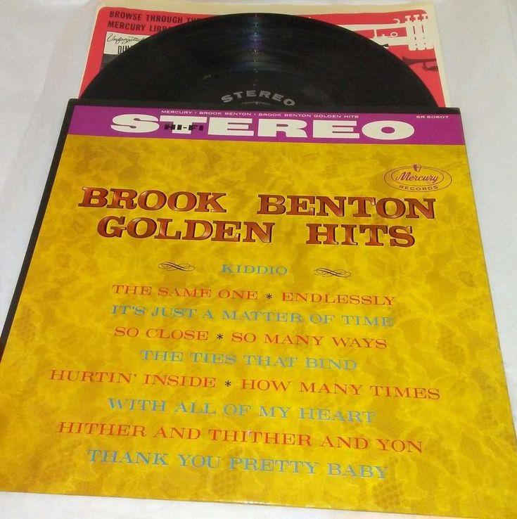 "Brook Benton Golden Hits 12"" Vinyl LP Mercury SR-60607 EX US Jazz Funk Soul  #FunkSoulJazz"