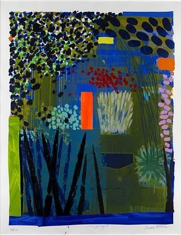 Bruce McLean, Orange Light -monoprint