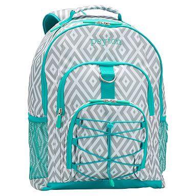 Gear-Up Preppy Diamond Backpack, Grey #pbteen