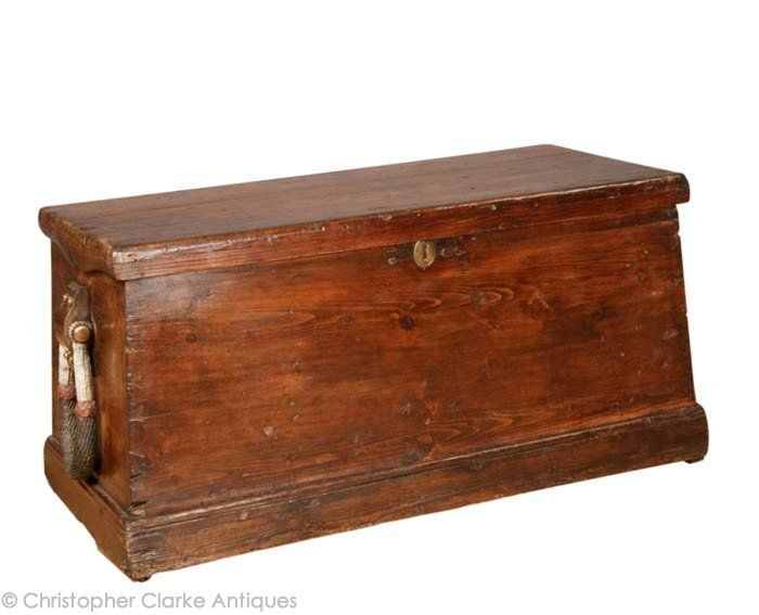 Seaman s trunk mid to late 19th century 17 1 2 ins x for Seamans furniture