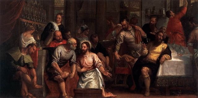 Ο Χριστός πλένοντας τα πόδια των αποστόλων (1580)
