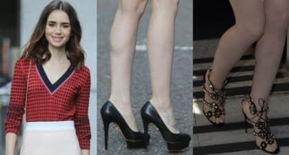 """Stacey Solomon Promotes """"Breath Away"""" in Thigh-Skimming Spotted Mini and Miu Miu Crystal-Embellished Heels"""