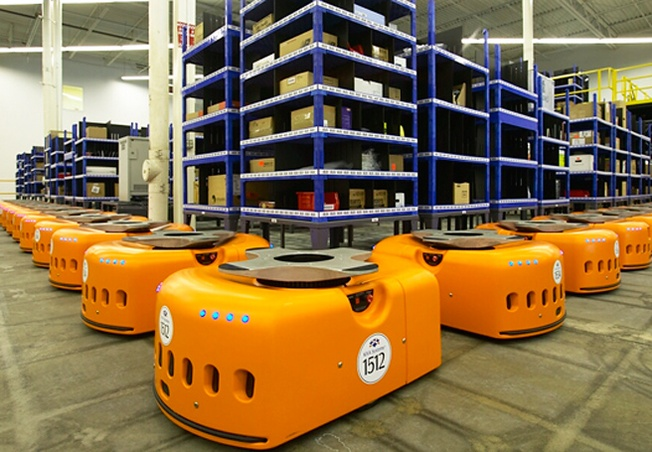 Robotics material handling systems like those created by Kiva Systems (now owned by Amazon) represent the tip of the iceberg in terms of the technological unemployment that AI and robotics will bring to the economy. #technology #future http://www.pinterest.com/pin/31806741090360732/