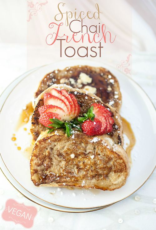 (via Spiced Chai French Toast — Produce On Parade)   #healthy #vegetarian #vegan #recipes Find more healthy recipes @ http://standouthealth.com